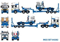 Scania new R-Serie Topline with Goldhofer semi-lowloader 3-axis and Scania 2-Serie  MGS   (арт.  64282)