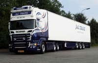 Scania R-Serie Topline with reefer semitrailer  J&L Trans  (арт.  65286)
