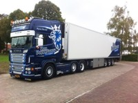 Scania R-serie Topline with reefer semitrailer Poppelaars, Ron  (арт.  65069)