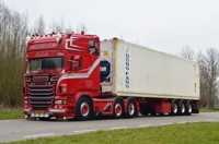 Scania R-serie Topline with D-Tec flexitrailer and 40ft Reefer container Weeda  (арт.  65602)