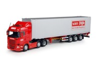 Scania R-Streamline Highline with 45ft. container-trailer Dijk, Van  (арт.  65883)