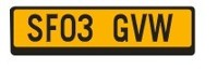 licence plates GB/yellow  (арт.  D-0005)