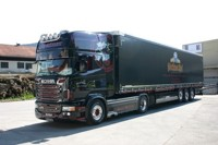 Scania R-serie Topline with curtainside semitrailer Haffner   (арт. 68602)