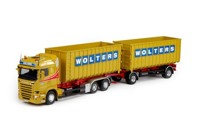 Scania R-Streamline Highline rigid truck with hookarm container and trailer Wolters  (арт.  68418)