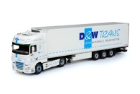 DAF Euro 6 XF Super Space Cab with reefer semitrailer D&W Trans  (арт. 69632)