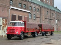 DAF 1600 rigid truck with trailer with load of bags Zijderlaan (арт. 71241)